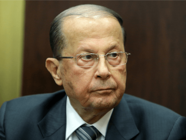 Lebanese member of parliament Michel Aoun holds a press conference following a parliament session to vote for the new Lebanese president in the parliament building in downtown Beirut on April 23, 2014. Lebanon's parliament failed to elect a new president, with no candidate securing the two-thirds of the vote needed …