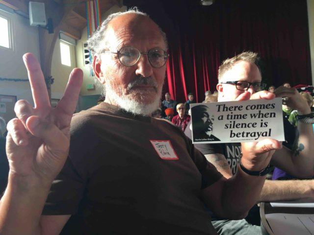 Leftist Jerry Rubin at Resist Trump (Adelle Nazarian / Breitbart News)