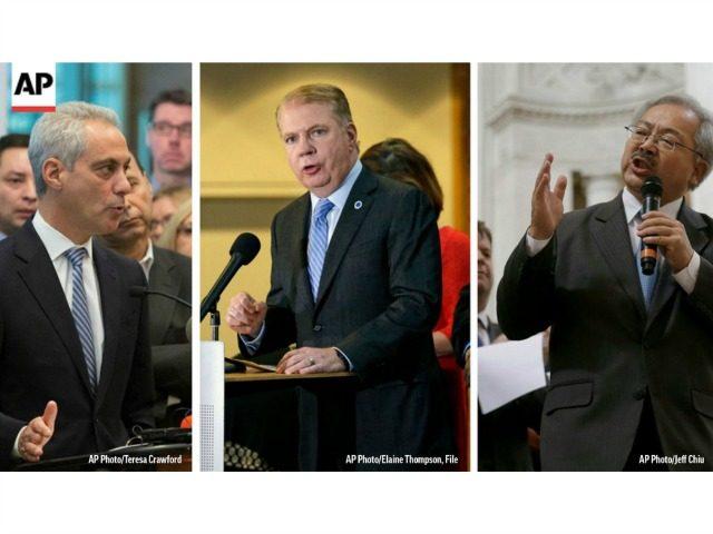 Liberal Sanctuary Mayors AP Photos