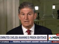 Dem Sen Manchin: Manning Commutation 'Dead Wrong,' Gives 'Green Light' to Hacking