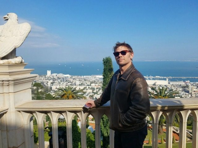 Mark Pellegrino in Haifa, Israel January 2017 PHOTOS: Shauli Lendner - America's Voices in Israel