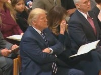 Watch: First Lady Melania Trump Weeps at National Cathedral
