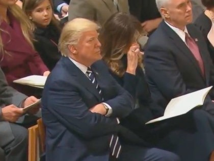 Melania Trump cries (Screenshot / Youtube)