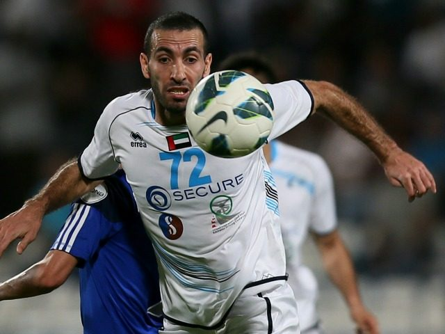 Baniyas' Egyptian striker Mohamed Aboutrika controls the ball during their GCC Champions League first leg final football match against Al-Khor in Doha on May 17, 2013. AFP PHOTO / AL-WATAN DOHA / KARIM JAAFAR == QATAR OUT == (Photo credit should read KARIM JAAFAR/AFP/Getty Images)