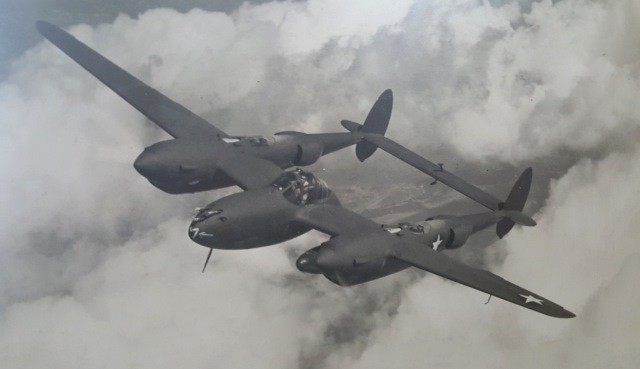 Lockheed P-38 Lightning being flown by Test Pilot William Edward Hottle. (Family photo)