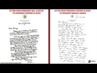 Obama Delivers Private Letter to Trump as Clinton, Bush Letters Made Public