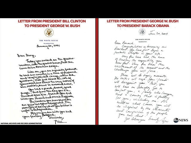 Obama Delivers Private Letter to Trump as Clinton Bush Letters