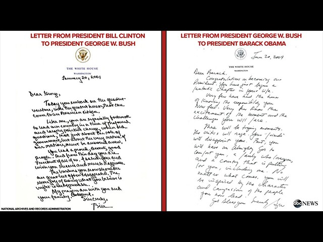 Obama Delivers Private Letter to Trump as Clinton, Bush Letters