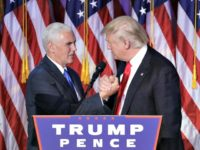 Pence, Trump Hand Clasp AP
