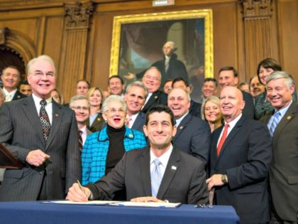 Ryan Signs O-Care Repeal 2016 AP