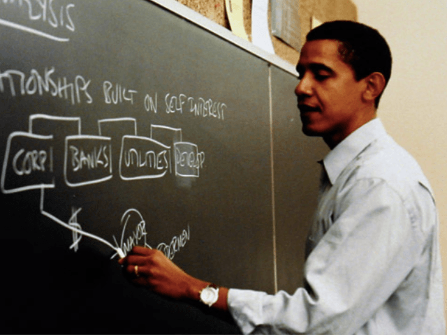 Barack Obama teaching at University of Chicago law school (Obama for America / Associated Press)