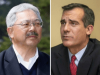 San Francisco Mayor Ed Lee and Los Angeles Mayor Eric Garcetti (Getty / Associated Press)
