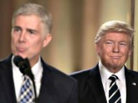 Judge Neil Gorsuch speaks, after US President Donald Trump nominated him for the Supreme Court, at the White House in Washington, DC, on January 31, 2017. President Donald Trump on nominated federal appellate judge Neil Gorsuch as his Supreme Court nominee, tilting the balance of the court back in the …