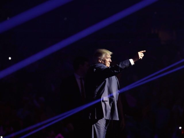Trump laser beams New Hampshire (Chip Somodevilla / Getty)