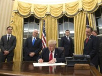 Trump Gives Oval Office New Look with Gold Drapes
