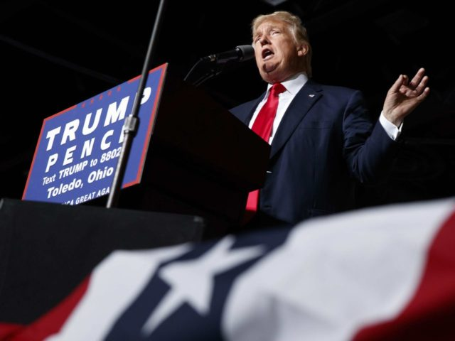 Trump speaks in Toledo (Evan Vucci / Associated Press)