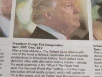 Scotland Paper TV Listings Describe Trump Inauguration As Return of 'The Twilight Zone'