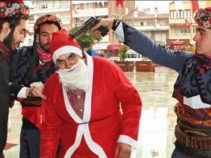 Turkish Muslim Nationalists Put Gun to Santa's Head to Protest Christmas