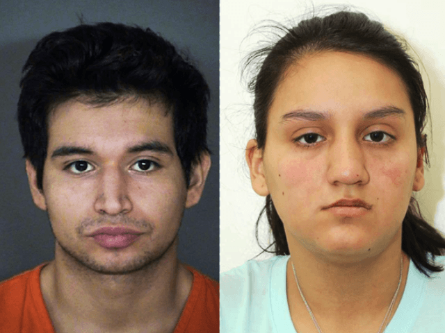 Issac Andrew Cardenas and Crystal Herrera. Bexar County Sheriff's Office mugshots.