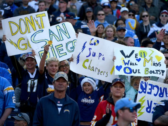 San Diego Chargers fans will lose their team to Los Angeles