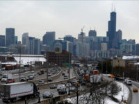 In this Monday, Nov. 23, 2015, photo, heavy traffic on Interstate 90, the Kennedy Expressway, is seen in Chicago. A study by an advocacy group found the nation's worst traffic bottleneck in terms of hours of delay is a 12-mile stretch of the Kennedy Expressway near Chicago's Loop business district. …