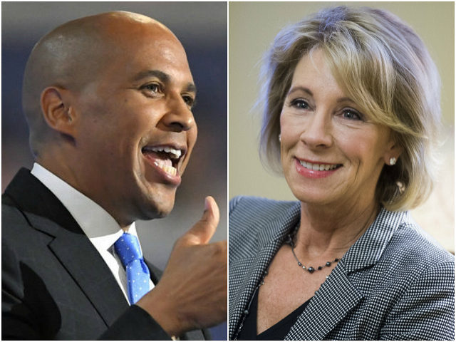 Cory Booker and Betsy DeVos