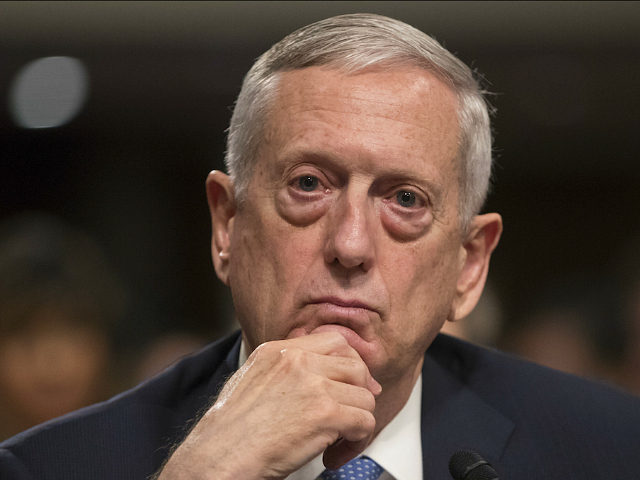 Defense Secretary-designate James Mattis listens to questions from Sen. Kirsten Gillibrand, D-N.Y., about his views on women and gays serving in the military, during his confirmation hearing before the Senate Armed Services Committee, Thursday, Jan. 12, 2017, on Capitol Hill in Washington. (AP Photo/J. Scott Applewhite)