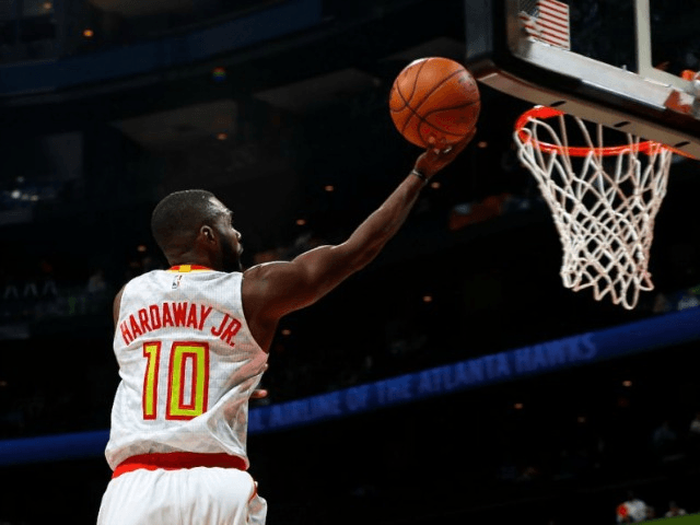 Tim Hardaway Jr. of the Atlanta Hawks, seen in action during a NBA game at Philips Arena in Atlanta, Georgia, in November 2016