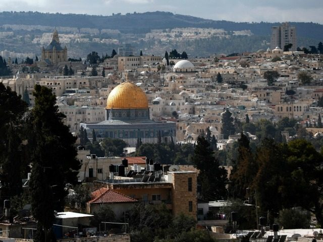A general view taken on January 13, 2017 shows the Dome of the Rock at the Al-Aqsa mosque compound in the Old City of Jerusalem. An international conference being held in Paris January 15, 2107 is the latest of many bids to forge peace between Israel and the Palestinians. Israel …