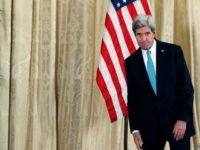 US Secretary of State John Kerry speaks during a press conference at the US embassy on March 05, 2014 in Paris, France. Negotiations between US Secretary of State John Kerry and Russian Foreign Minister Sergei Lavrov ended without agreement on Wednesday, pressuring the EU to act against the Kremlin with …