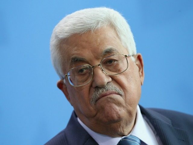 Palestinian President Mahmoud Abbas speaks to the media with German Chancellor Angela Merkel (not pictured) following talks at the Chancellery on April 19, 2016 in Berlin, Germany. Abbas is meeting with Merkel as well as other European leaders as well as Vladimir Putin of Russia in an effort to gain …