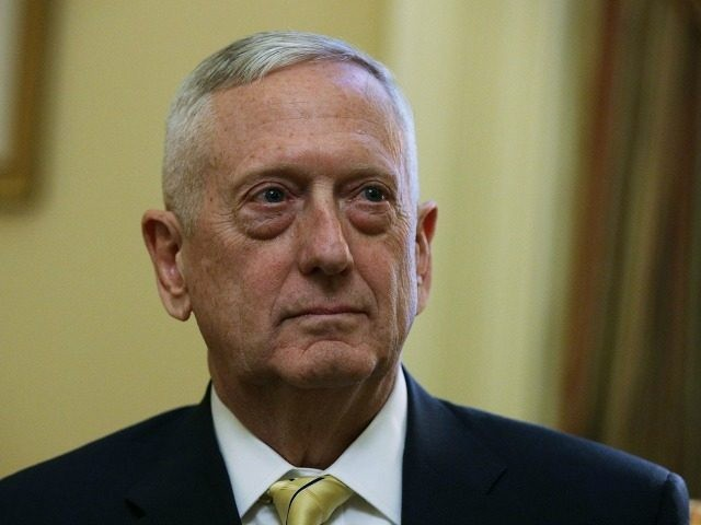 U.S. Defense Secretary-nominee, retired Marine Gen. James Mattis, is seen during a meeting with Senate Majority Leader Sen. Mitch McConnell (R-KY) December 7, 2016 at the Capitol in Washington, DC. Mattis, who had retired from the military in 2013, will need a waiver from Congress because current federal law bars …