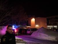 Canadian police officers respond to a shooting in a mosque at the Québec City Islamic cultural center on Sainte-Foy Street in Quebec city on January 29, 2017. Two arrests have been made after five people were reportedly shot dead in an attack on a mosque in Québec City, Canada. / …