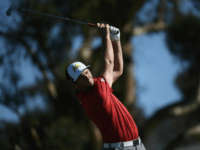Jon Rahm of Spain plays his shot from the 16th tee during the final round of the Farmers Insurance Open at Torrey Pines South on January 29, 2017 in San Diego, California