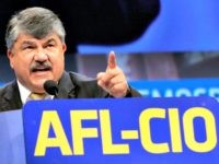 Richard Trumka, American Federation of Labor and Congress of Industrial Organizations president, addresses members during the quadrennial AFL-CIO convention at Los Angeles Convention Center on Monday, Sept 9, 2013 in Los Angeles.  The AFL-CIO plans to open its membership to more non-union groups in an effort to restore the influence of organized labor as traditional union rolls continue to decline. (AP Photo/Nick Ut)