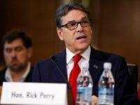 Former Texas Governor Rick Perry, President-elect Donald Trump's choice as Secretary of Energy, testifies during his confirmation hearing before the Senate Committee on Energy and Natural Resources on Capitol Hill January 19, 2017 in Washington, DC. Perry is expected to face questions about his connections to the oil and gas …