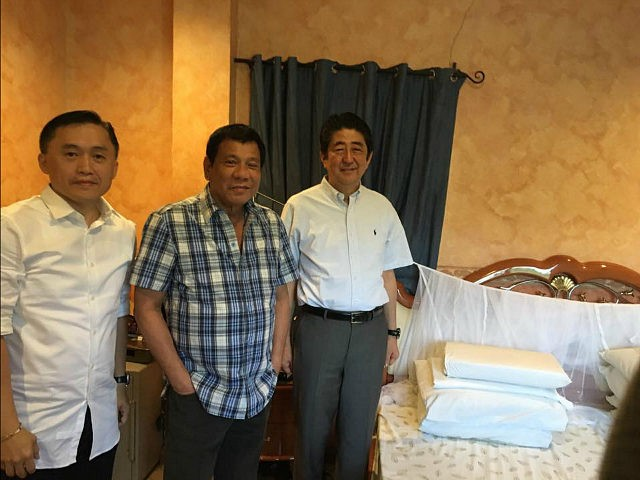 Philippines's Duterte Shows Japan's Shinzo Abe His 'Favorite Mosquito Net' During Visit