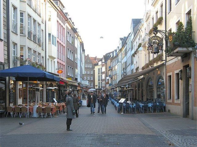 The old town of Dusseldorf where several Syrian Asylum seekers planned a terror attack in June 2016