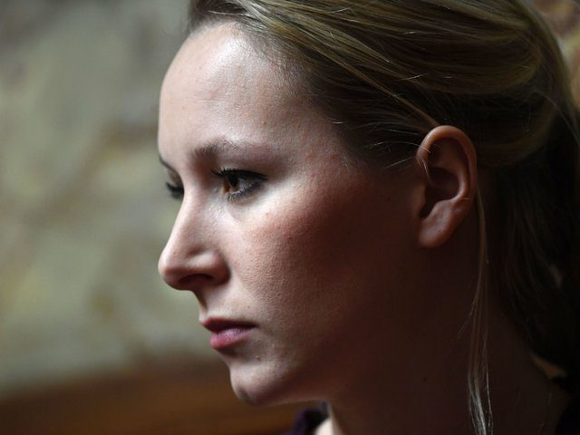 French far right party Front national members of Parliament Marion Marechal-Le Pen looks on during a session of questions to the government, on January 24, 2017 at the National Assembly in Paris. / AFP / bertrand GUAY (Photo credit should read BERTRAND GUAY/AFP/Getty Images)