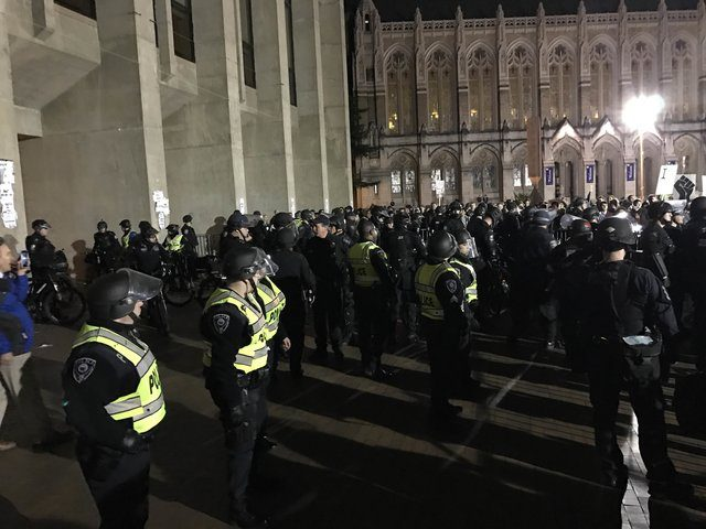Man shot outside UW event for Milo Yiannopoulos