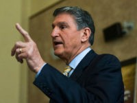 US Senator Joe Manchin speaks during a public town hall meeting on President Barack Obama's nomination of Merrick Garland to the U.S. Supreme Court in the Ceremonial Courtroom of the W. Kent Carper Justice & Public Safety Complex in Charleston, WV on Thursday March 24, 2016. Manchin, a Democrat whose conservative-leaning state has voted solidly Republican in recent national elections, faces a more challenging political calculation over Obama's pick than many other Senate Democrats. (Christian Randolph/Charleston Gazette-Mail via AP)