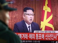 """A South Korean man watches North Korean leader Kim Jong Un delivering his New Year's speech on a TV news program shown at the Seoul Railway Station in Seoul, South Korea, Sunday, Jan. 1, 2017. North Korea's development of banned long-range missiles is in """"final stages,"""" the country's leader Kim …"""