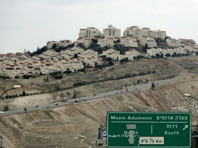 A picture shows the West Bank Jewish settlement of Maale Adumim near Jerusalem on March 2, 2009. Israel's housing ministry has plans for West Bank construction that would nearly double the number of settlers in the occupied territory, the anti-settlement group Peace Now said. AFP PHOTO/ AHMAD GHARABLI (Photo credit …
