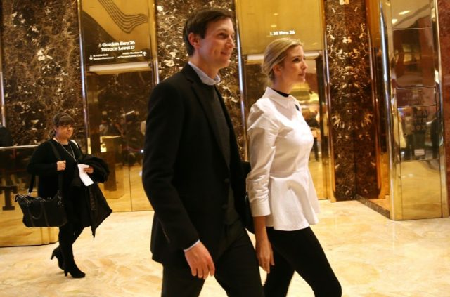 Ivanka Trump (R) and her husband Jared Kushner are seemingly headed to play important roles in the administration when Donald Trump becomes president on January 20
