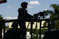 Mexican police patrol the streets of Guadalajara in 2015