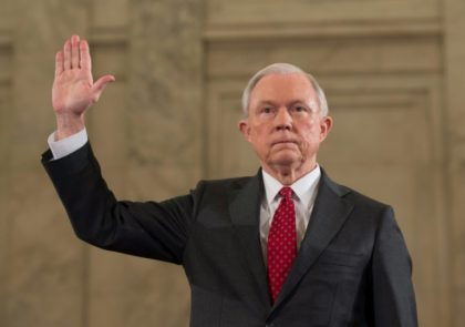 Jeff Sessions is sworn in for his Senate Judiciary Committee confirmation hearing on his nomination to be Attorney General of the United States, on January 10, 2017