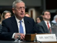 Retired Marine Corps general James Mattis testifies before the Senate Armed Services Committee on his nomination to be the next secretary of defense on January 12, 2017