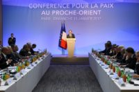 """Islamist movement Hamas dismissed the results of the Paris peace conference (pictured), calling it """"absurd"""" on January 16, 2017"""