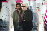 French Colombian-born designer Haider Ackermann (L), pictured with Karl Lagerfeld (R) in 2011, will unveil two shows at the Paris men's fashion week