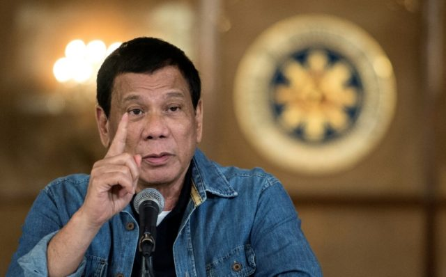 Philippine President Rodrigo Duterte says nearly 40 percent of the police force engage in illegal activities